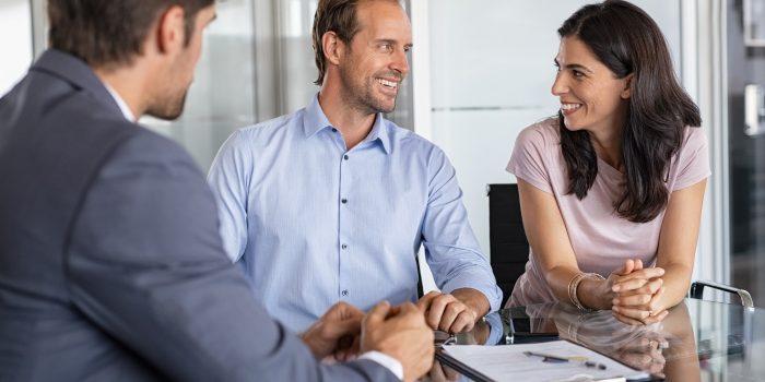 Mature couple meeting financial advisor